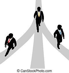 路徑, 商人, 步行, 3, 脫离