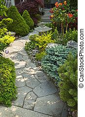 路徑, 石頭花園, 景觀美化