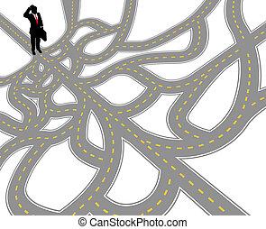 路徑, 複雜, 問題, 商人