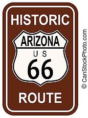路線, 具有歷史意義, 66, 亞利桑那