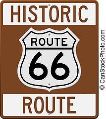 路線, 具有歷史意義, 66, 簽署