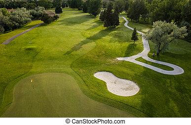 路線, 空中, 高爾夫球