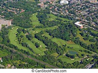 路線, 空中, 高爾夫球, scarborough