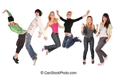 跳舞, 組, 人們