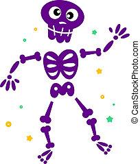 跳舞, 骨骼, 被隔离, 漂亮, 白色