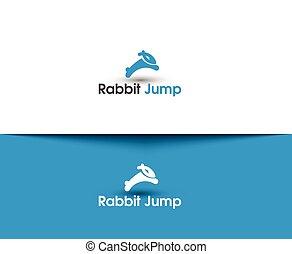 跳躍, 標識語, 兔子