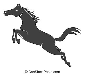 跳躍, 馬, 符號