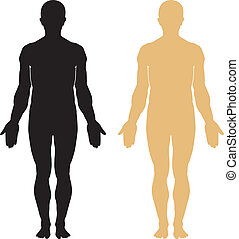 身體, 黑色半面畫像, 人類