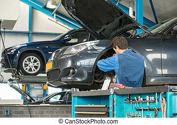 車庫, 工作, 技工