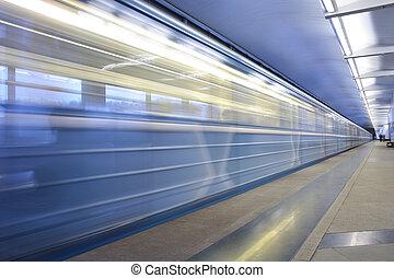 車站, 訓練, 移動, 地鐵