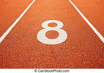 軌道, 跑, 八, 數字