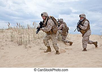 軍事, 操作