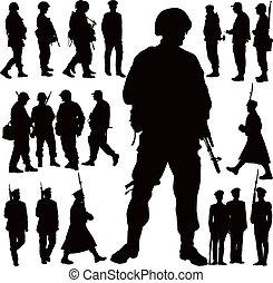 軍事, 黑色半面畫像