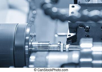 軸, 車床, 機器, cnc, parts., 金屬, 切