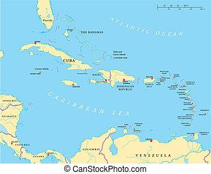 較少, -, 大, 加勒比海, antill