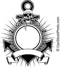 輪子, 手槍, 錨, 頭骨, flintlock