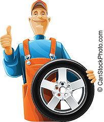 輪子, 汽車技工