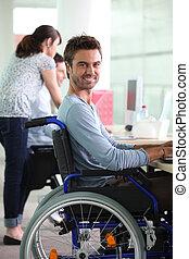 輪椅, 工作, 人