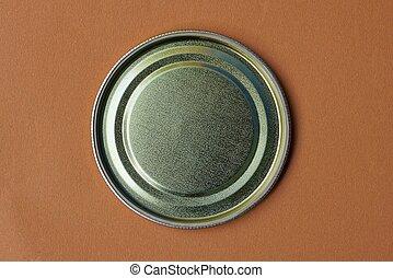 輪, 錫, 一, 新, 鋁, 黃色, 蓋子