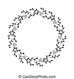 輪, 顏色, 末梢, 家, 矢量, berries., 花冠, 框架, 離開, 明信片, 心不在焉地亂寫亂畫, 摘要, style., 植物的裝飾, 邊框, 圖畫, 圖表, 元素, scrapbooking., 黑色, 裝飾
