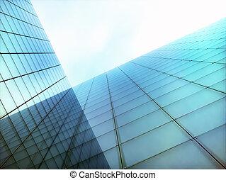 辦公室, 現代, 世界事務, 摩天樓, 建築物