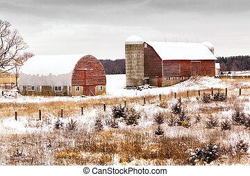農場, 冬天