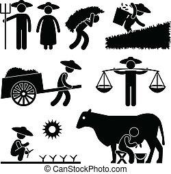 農場, 務農, 工人, 農夫