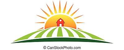 農場, 太陽, 農業, 標識語