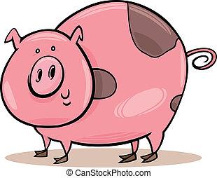 農場, 有斑點, animals:, 豬