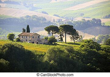 農村, 農舍, 意大利語