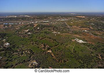農村, andalusia, 空中的觀點