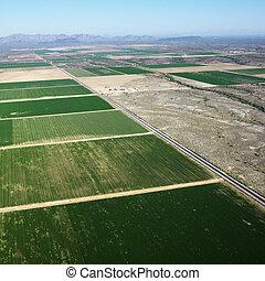 農田, aerial.