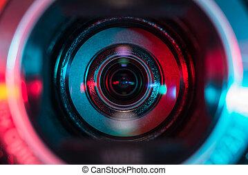 透鏡, 攝像放像机