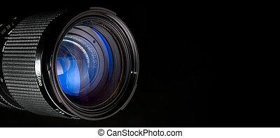 透鏡, 攝影, 黑色, 在上方