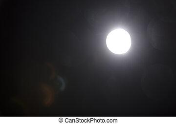 透鏡, 背景。, 黑色的光, 在上方, 閃光