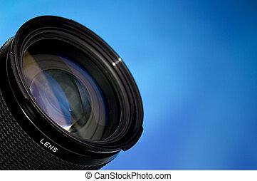 透鏡, 藍色, 攝影, 在上方