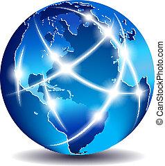 通訊, 全球, 世界, 商業