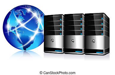 通訊, 服務器, 網際網路
