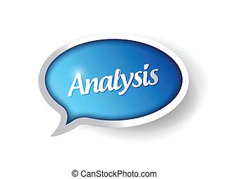通訊, 消息, 氣泡, 分析