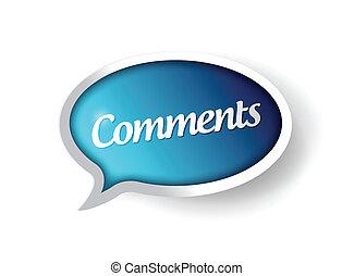 通訊, 消息, 氣泡, comments
