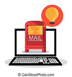 通訊, 消息, 設計, 電子郵件