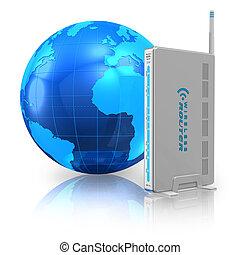 通訊, 網際網路, 概念, 無線