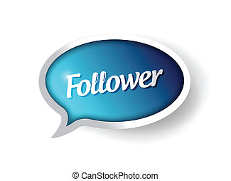 通訊, 追隨者, 氣泡, 消息