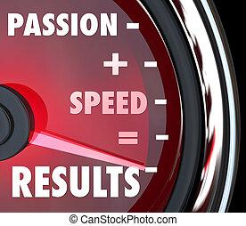 速度, 相等, 結果, 加上, 詞, 激情, 里程計