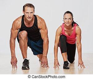 運動, 人 婦女, 練習, 健身