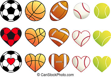 運動, 球, 集合, 矢量, 心