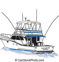 運動, 离岸, 漁船