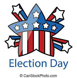選舉, 星, retro, 天, 慶祝