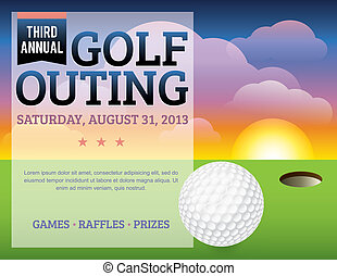 邀請, 高爾夫球, 設計, 比賽
