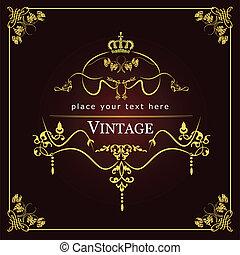 邀請, card., 婚禮, o, 葡萄酒
